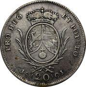 20 Kreuzer - Maximilian I Joseph (Konventionskreuzer) – reverse