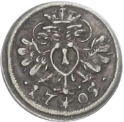 1 Pfennig - Maximilian II. (Austrian Administration) – obverse