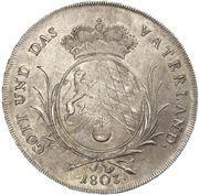 1 Konventionsthaler - Maximilian IV. – reverse