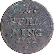 1 Pfenning - Maximilian III – reverse