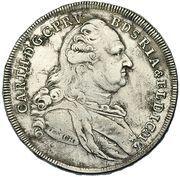 1 Thaler - Karl Theodor (Konventionstaler; 3rd portrait) – obverse