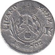 3 Kreuzer - Maximilian IV, Josef – reverse