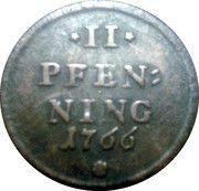 2 Pfenning - Maximilian III Joseph – reverse