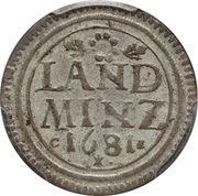 10 Pfennige - Maximilian II Emanuel – reverse