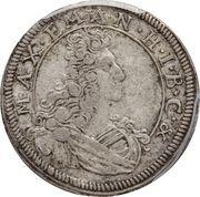 3 Kreuzer - Maximilian II Emanuel – obverse