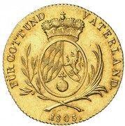 1 Ducat - Maximilian IV. Josef – reverse