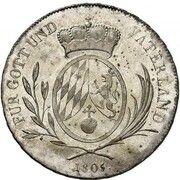 ½ Conventionsthaler - Maximilian I. Josef – reverse