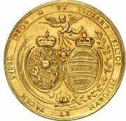5 Ducats - Maximilian II. Emanuel (Marriage of Maximilian II. Emanuel & Maria Antonia von Österreich) – reverse