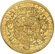 4 Ducats - Ferdinand Maria (Birth of Prince Louis Amadeus) – obverse