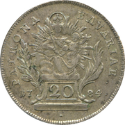 20 Kreuzer - Karl IV Theodor (Konventionskreuzer) – reverse