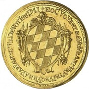 5 Ducats - Ferdinand Maria (Birth of Princess Maria Anna) – reverse