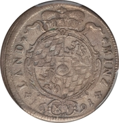 15 Kreuzer - Maximilian II Emanuel – reverse