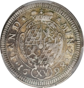 15 Kreuzer - Maximilian II Emanuel -  reverse