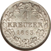 1 Kreuzer - Maximilian II – reverse