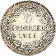 6 Kreuzer - Ludwig II – reverse