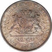 1 Vereinsthaler - Ludwig II – reverse