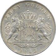 2 Gulden - Ludwig I -  reverse