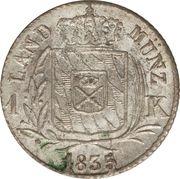 1 Kreuzer - Ludwig I – reverse