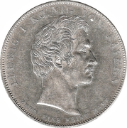 1 Conventionsthaler - Ludwig I (St. Michael – obverse