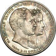 2 Thaler / 3½ Gulden - Ludwig I (Marriage) – reverse