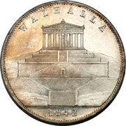 2 Thaler / 3½ Gulden - Ludwig I (Walhalla) – reverse