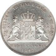 2 Thaler / 3½ Gulden - Ludwig I – reverse