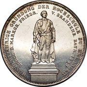 2 Thaler / 3½ Gulden - Ludwig I (Academy of Erlangen) – reverse