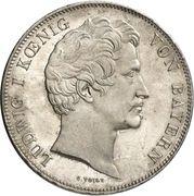 2 Thaler / 3½ Gulden - Ludwig I (Feldherrenhalle) – obverse