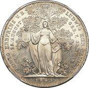2 Thaler / 3½ Gulden - Ludwig I (Birth of Two Grandsons) – reverse
