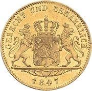 1 Ducat - Ludwig I – reverse