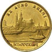 1 Ducat - Ludvig I (Rheingold) – reverse