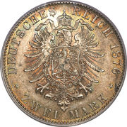 2 Mark - Ludwig II – reverse