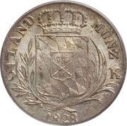 3 Kreuzer - Ludwig I – reverse
