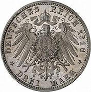 3 Mark - Ludwig III (Golden Wedding Anniversary) – reverse