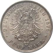 5 Mark - Ludwig II – reverse