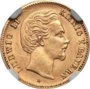 5 Mark - Ludwig II – obverse