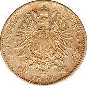 20 Mark - Ludwig II – reverse