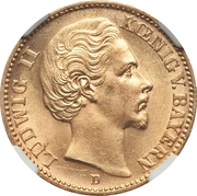 20 Mark - Ludwig II – obverse