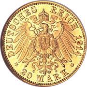 20 Mark - Ludwig III – reverse