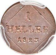 1 Heller - Maximilian I Joseph – reverse