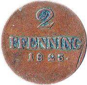 2 Pfenning - Maximilian I Joseph – reverse