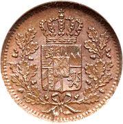 1 Heller - Ludwig I / Maximilian II – obverse
