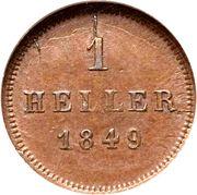 1 Heller - Ludwig I / Maximilian II – reverse