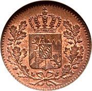 1 Pfennig - Ludwig I / Maximillian II – obverse