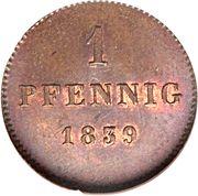 1 Pfennig - Ludwig I / Maximillian II – reverse