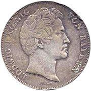 2 Thaler / 3½ Gulden - Ludwig I (Canal Completion) – obverse