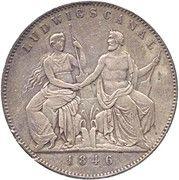 2 Thaler / 3½ Gulden - Ludwig I (Canal Completion) – reverse