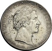 1 Conventionsthaler - Ludwig I (Customs Union) – obverse
