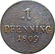 1 Pfenning - Maximilian I Joseph – reverse