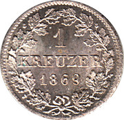 1 Kreuzer - Ludwig II – reverse